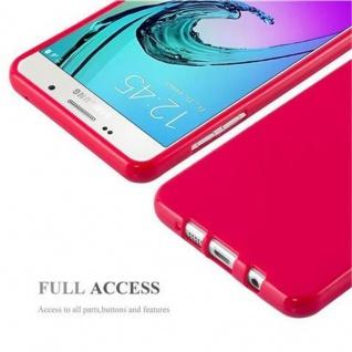 Cadorabo Hülle für Samsung Galaxy A3 2016 in JELLY ROT ? Handyhülle aus flexiblem TPU Silikon ? Silikonhülle Schutzhülle Ultra Slim Soft Back Cover Case Bumper - Vorschau 4