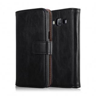 Cadorabo Hülle für Samsung Galaxy A5 2015 in GRAPHIT SCHWARZ - Handyhülle mit Magnetverschluss, Standfunktion und Kartenfach - Case Cover Schutzhülle Etui Tasche Book Klapp Style - Vorschau 2