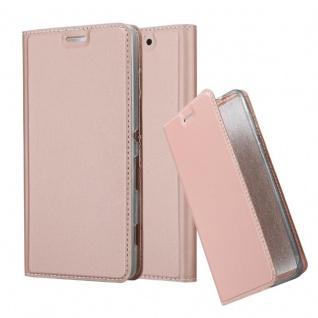Cadorabo Hülle für Sony Xperia C4 in CLASSY ROSÉ GOLD - Handyhülle mit Magnetverschluss, Standfunktion und Kartenfach - Case Cover Schutzhülle Etui Tasche Book Klapp Style