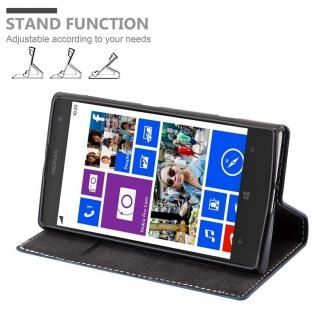 Cadorabo Hülle für Nokia Lumia 1020 in DUNKEL BLAU BRAUN - Handyhülle mit Magnetverschluss, Standfunktion und Kartenfach - Case Cover Schutzhülle Etui Tasche Book Klapp Style - Vorschau 4