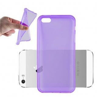 Cadorabo Hülle für Apple iPhone 5 / iPhone 5S / iPhone SE - Hülle in TRANSPARENT LILA ? Handyhülle aus TPU Silikon im Ultra Slim 'AIR' Design - Ultra Slim Soft Backcover Case Bumper