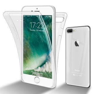 Cadorabo Hülle kompatibel mit Apple iPhone 8 Plus / 7 Plus in TRANSPARENT - 360° Full Body Handyhülle Front und Rückenschutz Rundumschutz Schutzhülle mit Displayschutz