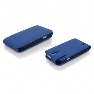 Cadorabo Hülle für Samsung Galaxy S5 MINI / S5 MINI DUOS in KÖNIGS BLAU - Handyhülle im Flip Design aus strukturiertem Kunstleder - Case Cover Schutzhülle Etui Tasche Book Klapp Style - Vorschau 3