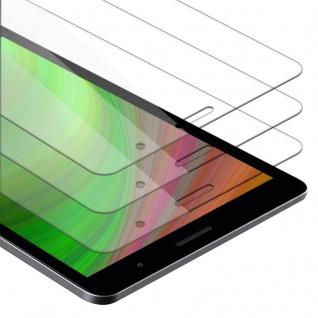 """"""" Cadorabo 3x Panzer Folie für Huawei MediaPad T3 8 (8.0"""" Zoll) - Schutzfolie in KRISTALL KLAR - 3er Pack Gehärtetes (Tempered) Display-Schutzglas in 9H Härte mit 3D Touch Kompatibilität"""""""