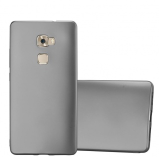 Cadorabo Hülle für Huawei MATE S in METALLIC GRAU - Handyhülle aus flexiblem TPU Silikon - Silikonhülle Schutzhülle Ultra Slim Soft Back Cover Case Bumper - Vorschau 1