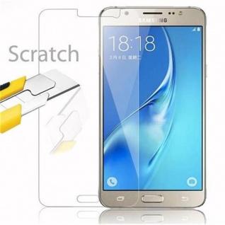 Cadorabo Panzer Folie für Samsung Galaxy J5 - Schutzfolie in KRISTALL KLAR - Gehärtetes (Tempered) Display-Schutzglas in 9H Härte mit 3D Touch Kompatibilität - Vorschau 2