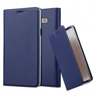 Cadorabo Hülle für Samsung Galaxy A7 2015 in CLASSY DUNKEL BLAU - Handyhülle mit Magnetverschluss, Standfunktion und Kartenfach - Case Cover Schutzhülle Etui Tasche Book Klapp Style