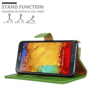 Cadorabo Hülle für Samsung Galaxy NOTE 3 NEO in GRAS GRÜN ? Handyhülle mit Magnetverschluss, Standfunktion und Kartenfach ? Case Cover Schutzhülle Etui Tasche Book Klapp Style - Vorschau 2