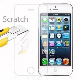 Cadorabo Panzer Folie für Apple iPhone 5 / 5S / SE - Schutzfolie in KRISTALL KLAR - Gehärtetes (Tempered) Display-Schutzglas in 9H Härte mit 3D Touch Kompatibilität - Vorschau 3