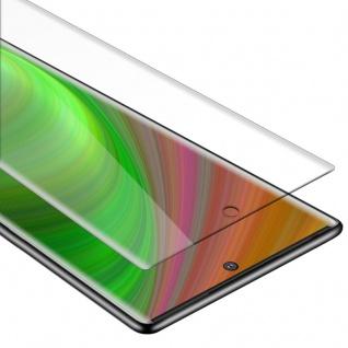 Cadorabo Panzer Folie für Samsung Galaxy NOTE 10 PLUS - Schutzfolie in KRISTALL KLAR - Gehärtetes (Tempered) Display-Schutzglas in 9H Härte mit 3D Touch Kompatibilität
