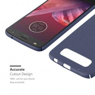Cadorabo Hülle für Motorola MOTO Z2 PLAY in FROSTY BLAU - Hardcase Handyhülle aus Plastik gegen Kratzer und Stöße - Schutzhülle Bumper Ultra Slim Back Case Hard Cover - Vorschau 4