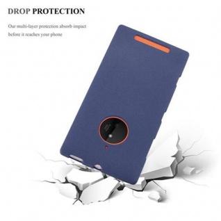 Cadorabo Hülle für Nokia Lumia 830 in FROST DUNKEL BLAU - Handyhülle aus flexiblem TPU Silikon - Silikonhülle Schutzhülle Ultra Slim Soft Back Cover Case Bumper - Vorschau 5