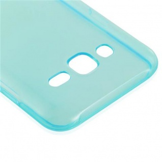 Cadorabo Hülle für Samsung Galaxy J3 2015 in TRANSPARENT BLAU - Handyhülle aus flexiblem TPU Silikon - Silikonhülle Schutzhülle Ultra Slim Soft Back Cover Case Bumper - Vorschau 4