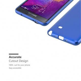 Cadorabo Hülle für Samsung Galaxy NOTE 4 in METALLIC BLAU - Handyhülle aus flexiblem TPU Silikon - Silikonhülle Schutzhülle Ultra Slim Soft Back Cover Case Bumper - Vorschau 2