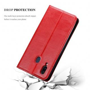 Cadorabo Hülle für Samsung Galaxy M20 in APFEL ROT - Handyhülle mit Magnetverschluss, Standfunktion und Kartenfach - Case Cover Schutzhülle Etui Tasche Book Klapp Style - Vorschau 4