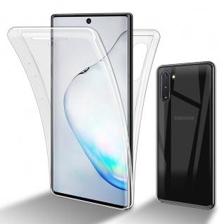 Cadorabo Hülle kompatibel mit Samsung Galaxy Note 10 in TRANSPARENT - 360° Full Body Handyhülle Front und Rückenschutz Rundumschutz Schutzhülle mit Displayschutz