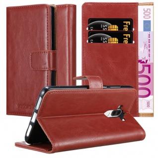 Cadorabo Hülle für Huawei MATE 9 in WEIN ROT ? Handyhülle mit Magnetverschluss, Standfunktion und Kartenfach ? Case Cover Schutzhülle Etui Tasche Book Klapp Style
