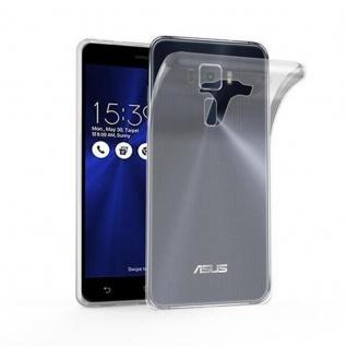 Cadorabo Hülle für Asus ZenFone 3 DELUXE in VOLL TRANSPARENT - Handyhülle aus flexiblem TPU Silikon - Silikonhülle Schutzhülle Ultra Slim Soft Back Cover Case Bumper