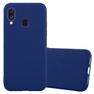 Cadorabo Hülle für Samsung Galaxy A40 in CANDY DUNKEL BLAU - Handyhülle aus flexiblem TPU Silikon - Silikonhülle Schutzhülle Ultra Slim Soft Back Cover Case Bumper