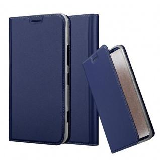 Cadorabo Hülle für Nokia Lumia 1320 in CLASSY DUNKEL BLAU - Handyhülle mit Magnetverschluss, Standfunktion und Kartenfach - Case Cover Schutzhülle Etui Tasche Book Klapp Style