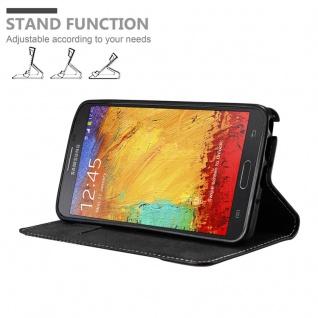 Cadorabo Hülle für Samsung Galaxy NOTE 3 NEO in SCHWARZ BRAUN ? Handyhülle mit Magnetverschluss, Standfunktion und Kartenfach ? Case Cover Schutzhülle Etui Tasche Book Klapp Style - Vorschau 4