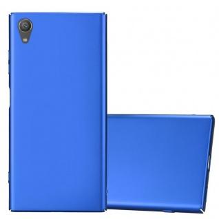 Cadorabo Hülle für Sony Xperia XA1 PLUS in METALL BLAU Hardcase Handyhülle aus Plastik gegen Kratzer und Stöße Schutzhülle Bumper Ultra Slim Back Case Hard Cover
