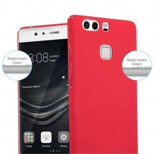 Cadorabo Hülle für Huawei P9 in FROSTY ROT - Hardcase Handyhülle aus Plastik gegen Kratzer und Stöße - Schutzhülle Bumper Ultra Slim Back Case Hard Cover - Vorschau 5