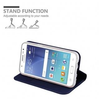 Cadorabo Hülle für Samsung Galaxy J5 2015 in CLASSY DUNKEL BLAU - Handyhülle mit Magnetverschluss, Standfunktion und Kartenfach - Case Cover Schutzhülle Etui Tasche Book Klapp Style - Vorschau 4