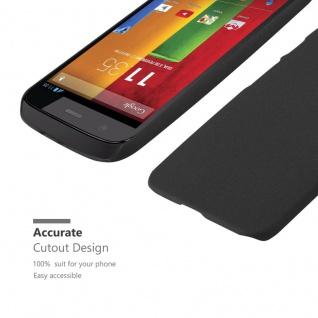 Cadorabo Hülle für Motorola MOTO Z2 in FROSTY SCHWARZ - Hardcase Handyhülle aus Plastik gegen Kratzer und Stöße - Schutzhülle Bumper Ultra Slim Back Case Hard Cover - Vorschau 5