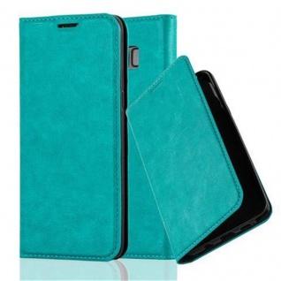 Cadorabo Hülle für Samsung Galaxy S8 in PETROL TÜRKIS - Handyhülle mit Magnetverschluss, Standfunktion und Kartenfach - Case Cover Schutzhülle Etui Tasche Book Klapp Style