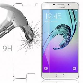 Cadorabo Panzer Folie für Samsung Galaxy A7 2016 - Schutzfolie in KRISTALL KLAR - Gehärtetes (Tempered) Display-Schutzglas in 9H Härte mit 3D Touch Kompatibilität - Vorschau 3