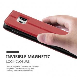 Cadorabo Hülle für Samsung Galaxy S6 EDGE PLUS in SAFRAN ROT - Handyhülle mit Magnetverschluss, Standfunktion und 2 Sichtfenstern - Case Cover Schutzhülle Etui Tasche Book Klapp Style - Vorschau 5