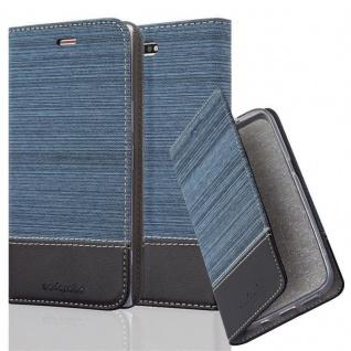 Cadorabo Hülle für Sony Xperia XZ PREMIUM in DUNKEL BLAU SCHWARZ - Handyhülle mit Magnetverschluss, Standfunktion und Kartenfach - Case Cover Schutzhülle Etui Tasche Book Klapp Style