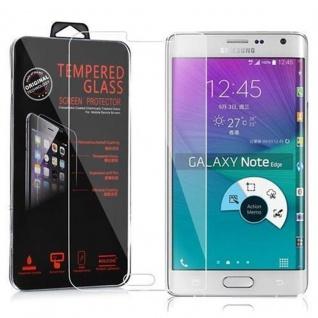 Cadorabo Panzer Folie für Samsung Galaxy NOTE EDGE - Schutzfolie in KRISTALL KLAR - Gehärtetes (Tempered) Display-Schutzglas in 9H Härte mit 3D Touch Kompatibilität