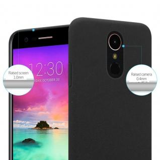 Cadorabo Hülle für LG K10 2017 in FROSTY SCHWARZ - Hardcase Handyhülle aus Plastik gegen Kratzer und Stöße - Schutzhülle Bumper Ultra Slim Back Case Hard Cover - Vorschau 3