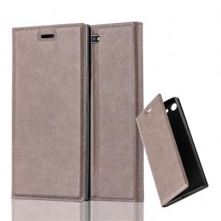 Cadorabo Hülle für Sony Xperia XZ PREMIUM in KAFFEE BRAUN - Handyhülle mit Magnetverschluss, Standfunktion und Kartenfach - Case Cover Schutzhülle Etui Tasche Book Klapp Style