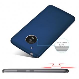 Cadorabo Hülle für Motorola MOTO G5 in METALL BLAU - Hardcase Handyhülle aus Plastik gegen Kratzer und Stöße - Schutzhülle Bumper Ultra Slim Back Case Hard Cover - Vorschau 4