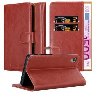 Cadorabo Hülle für Sony Xperia X in WEIN ROT ? Handyhülle mit Magnetverschluss, Standfunktion und Kartenfach ? Case Cover Schutzhülle Etui Tasche Book Klapp Style