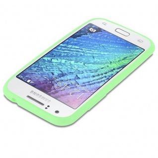 Cadorabo Hülle für Samsung Galaxy J1 2015 in CANDY PASTELL GRÜN - Handyhülle aus flexiblem TPU Silikon - Silikonhülle Schutzhülle Ultra Slim Soft Back Cover Case Bumper - Vorschau 3