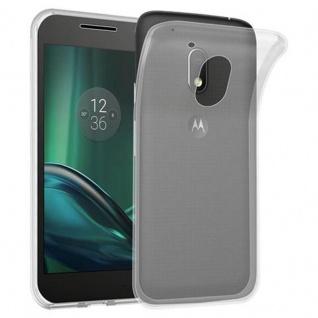 Cadorabo Hülle für Motorola MOTO G4 PLAY in VOLL TRANSPARENT - Handyhülle aus flexiblem TPU Silikon - Silikonhülle Schutzhülle Ultra Slim Soft Back Cover Case Bumper