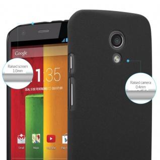 Cadorabo Hülle für Motorola MOTO Z2 in FROSTY SCHWARZ - Hardcase Handyhülle aus Plastik gegen Kratzer und Stöße - Schutzhülle Bumper Ultra Slim Back Case Hard Cover - Vorschau 4