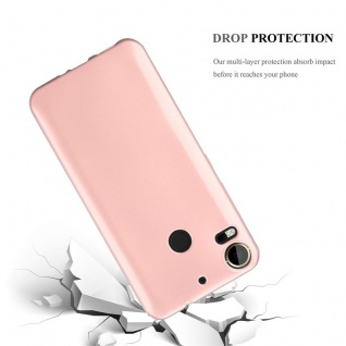 Cadorabo Hülle für HTC Desire 10 PRO in METALLIC ROSÉ GOLD - Handyhülle aus flexiblem TPU Silikon - Silikonhülle Schutzhülle Ultra Slim Soft Back Cover Case Bumper - Vorschau 3