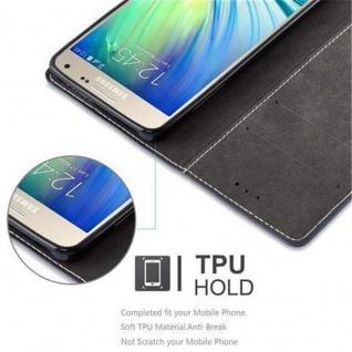 Cadorabo Hülle für Samsung Galaxy A5 2015 in DUNKEL BLAU BRAUN - Handyhülle mit Magnetverschluss, Standfunktion und Kartenfach - Case Cover Schutzhülle Etui Tasche Book Klapp Style - Vorschau 4