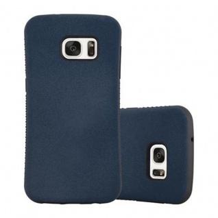 Cadorabo Hülle für Samsung Galaxy S7 - Hülle in MEERES BLAU - Small Waist Handyhülle mit rutschfestem Gummi-Rücken - Hard Case TPU Silikon Schutzhülle