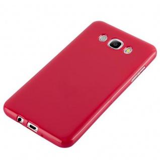 Cadorabo Hülle für Samsung Galaxy J7 2015 in JELLY ROT ? Handyhülle aus flexiblem TPU Silikon ? Silikonhülle Schutzhülle Ultra Slim Soft Back Cover Case Bumper - Vorschau 3