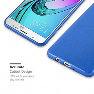 Cadorabo Hülle für Samsung Galaxy J5 2016 in METALLIC BLAU - Handyhülle aus flexiblem TPU Silikon - Silikonhülle Schutzhülle Ultra Slim Soft Back Cover Case Bumper - Vorschau 2