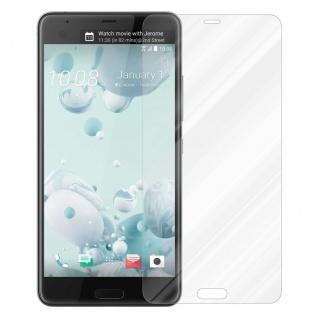 Cadorabo Panzer Folie für HTC U ULTRA - Schutzfolie in KRISTALL KLAR - Gehärtetes (Tempered) Display-Schutzglas in 9H Härte mit 3D Touch Kompatibilität - Vorschau 2