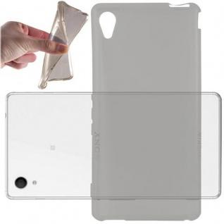 Cadorabo Hülle für Sony Xperia M4 AQUA in TRANSPARENT SCHWARZ - Handyhülle aus flexiblem TPU Silikon - Silikonhülle Schutzhülle Ultra Slim Soft Back Cover Case Bumper