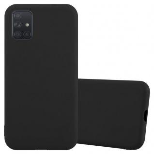 Cadorabo Hülle für Samsung Galaxy A71 in CANDY SCHWARZ Handyhülle aus flexiblem TPU Silikon Silikonhülle Schutzhülle Ultra Slim Soft Back Cover Case Bumper