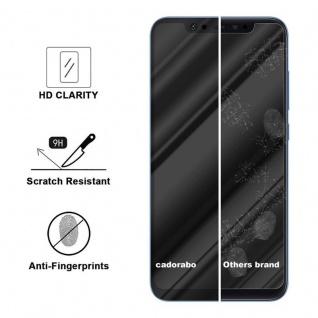 Cadorabo Vollbild Panzer Folie für Xiaomi 8 - Schutzfolie in TRANSPARENT mit SCHWARZ - Gehärtetes (Tempered) Display-Schutzglas in 9H Härte mit 3D Touch Kompatibilität - Vorschau 3